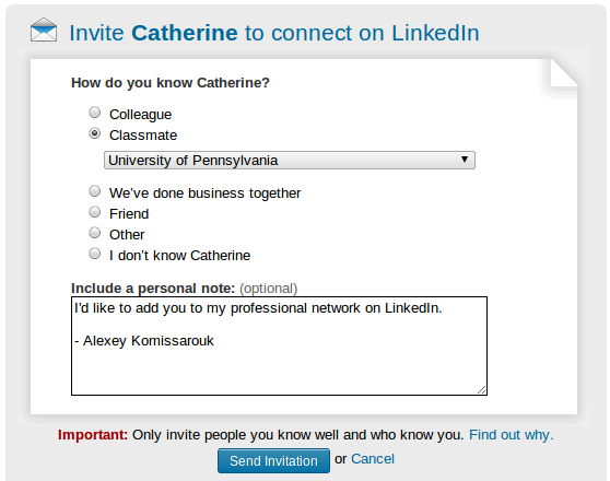Loose Ties Link Ships:  Friending norms on LinkedIn